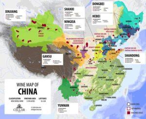 中国のワイン生産地