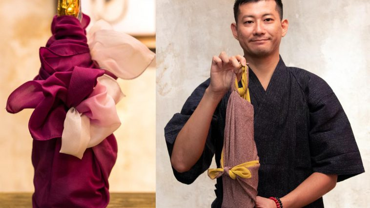 เคล็ดลับการชิมไวน์แบบไบลนด์เทสติ้ง: วิธีการห่อผ้าฟุโรชิกิแบบญี่ปุ่น