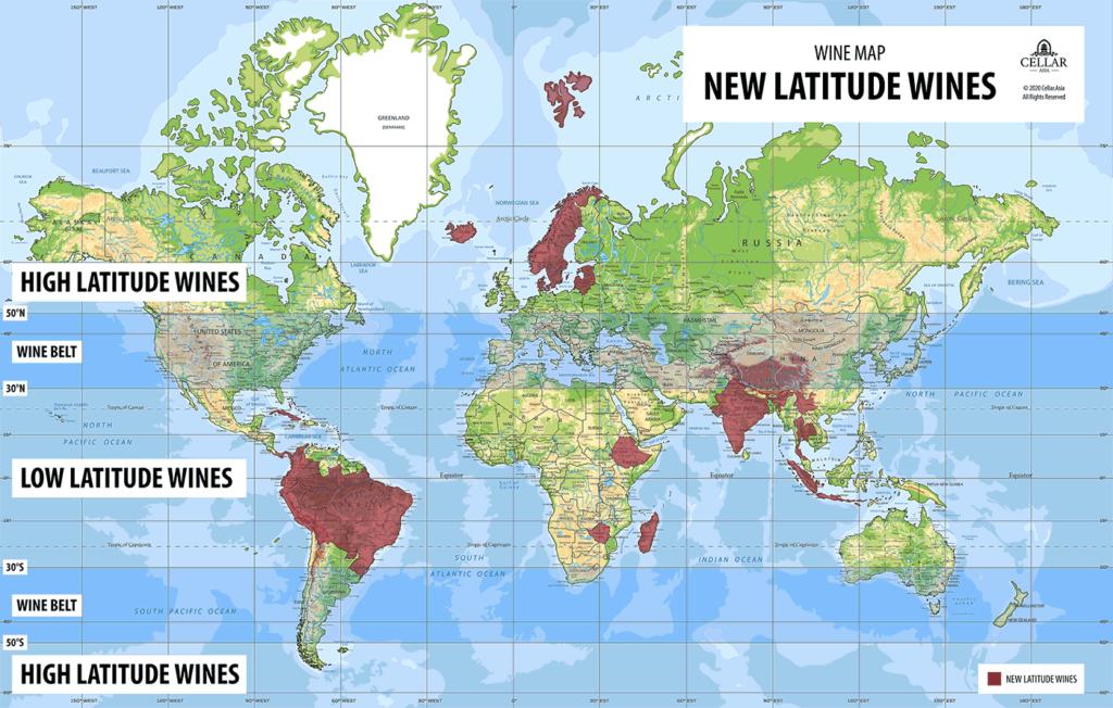 New Latitude Wines Map