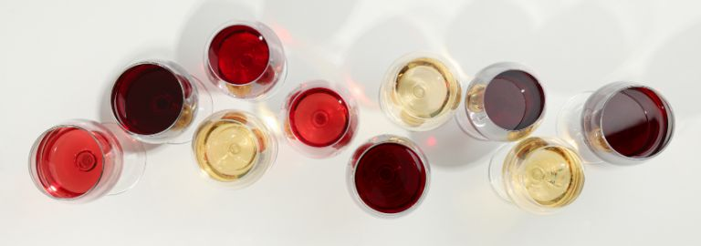 Different tastes of wines