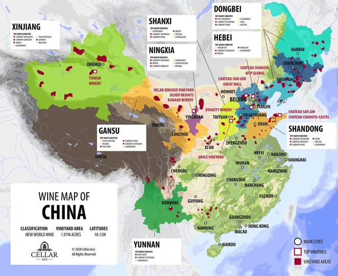 China Wine Map, Chinese Wine Regions