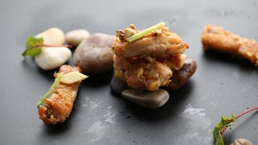 Pan-Fried Shunde Chicken & Macchie Santa Maria Campania Aglianico