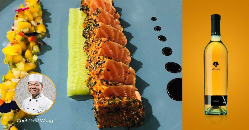 Seared Salmon With Mango Fantasy & Verduzzo Venezia Giulia IGT | Wine & Food Pairing