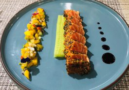 Seared Salmon With Mango Fantasy & Verduzzo Venezia Giulia IGT