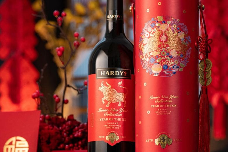 New World Wine Brand Hardys Year of the Ox Special Edition Gift Box. Credit: Hardys